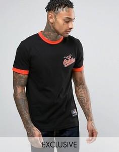 Длинная футболка Majestic Orioles Ringer эксклюзивно для ASOS - Черный