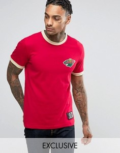 Длинная футболка Majestic Minnesota Wild Ringer эксклюзивно для ASOS - Красный