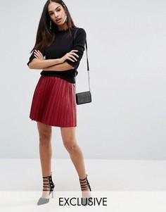 Плиссированная мини-юбка Missguided - Красный