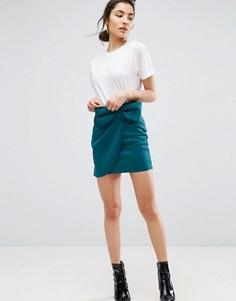 Мини-юбка с бантом ASOS - Зеленый