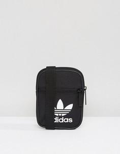 Черная сумка с логотипом-трилистником adidas Originals BK6730 - Черный