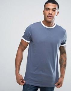 Синяя футболка New Look Ringer - Синий
