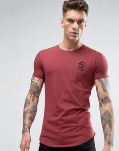 Облегающая футболка с логотипом Gym King - Красный