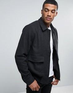 Куртка Харрингтон с добавлением шерсти D-Struct - Серый