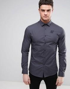 Суперузкая рубашка SikSilk - Серый