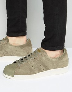 Кроссовки в стиле 80-х adidas Originals Superstar BB2226 - Зеленый