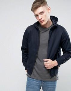 Куртка из хлопковой саржи с капюшоном Tokyo Landry - Темно-синий