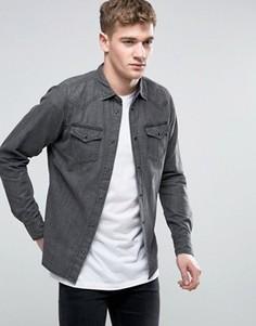 Узкая джинсовая рубашка Diesel NEW-SONORA-E - Черный