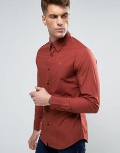 Узкая рубашка с длинными рукавами G-Star - Коричневый