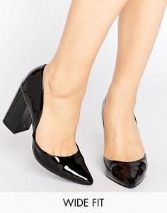 Туфли-лодочки для широкой стопы New Look - Черный