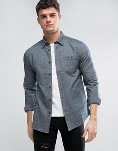 Фланелевая рубашка с накладным карманом RVCA - Серый