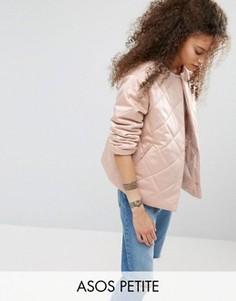 Стеганая куртка ASOS PETITE - Кремовый