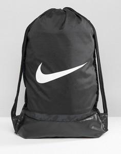 Черный рюкзак на шнурке с галочкой Nike BA5338-010 - Черный
