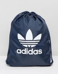 Темно-синий спортивный рюкзак с трилистником adidas Originals BK6727 - Темно-синий