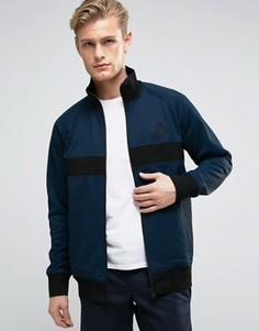 Синяя спортивная куртка в крапинку Converse 10003392-A02 - Синий