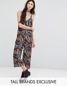 Комбинезон с юбкой-брюками с принтом Glamorous Tall - Мульти