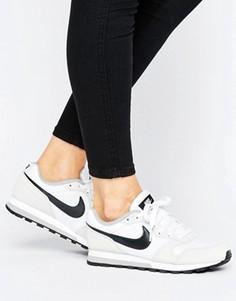 Белые кроссовки Nike MD Runner - Белый