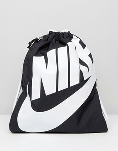 Черный рюкзак на шнурке Nike Heritage BA5351-011 - Черный