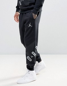 Джоггеры с большим логотипом Nike Jordan 833920-010 - Черный