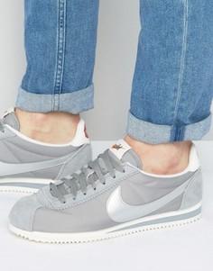 Серые премиум-кроссовки из нейлона Nike Cortez 876873-001 - Серый