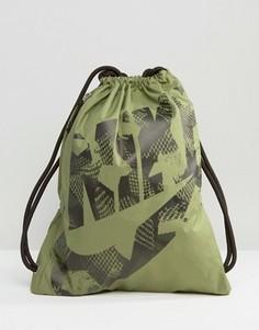 Зеленый рюкзак со шнурком Nike Heritage BA5351-387 - Зеленый