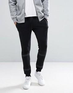 Спортивные штаны скинни с полосками Jack & Jones Core - Черный