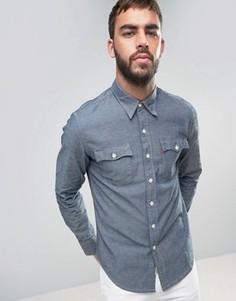 Джинсовая рубашка из переработанной ткани шамбре Levis Orange Tab - Синий Levis®