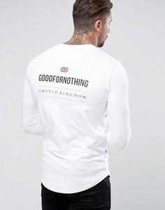 Обтягивающий белый лонгслив с принтом сзади Good For Nothing - Белый