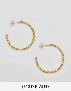 Эффектные серьги-кольца с перекрученной отделкой Ottoman Hands - Золотой