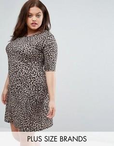 Цельнокройное платье с животным принтом Pink Clove - Мульти