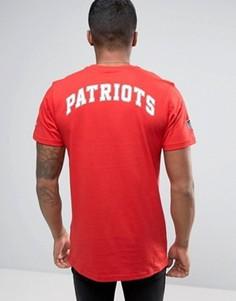 Футболка с принтом Patriots на спине New Era - Красный