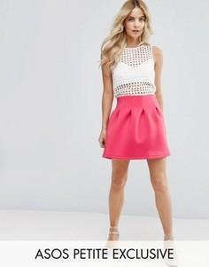 Мини-юбка для выпускного ASOS PETITE - Розовый