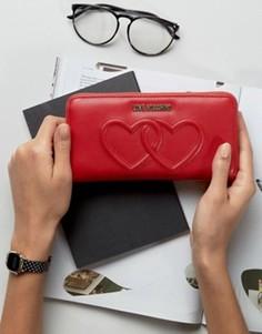 Кошелек с двумя сердцами Love Moschino - Красный