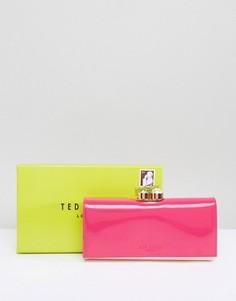 Лакированный кошелек Ted Baker - Розовый