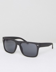 Черные солнцезащитные очки с плоским верхом Jeepers Peepers - Черный