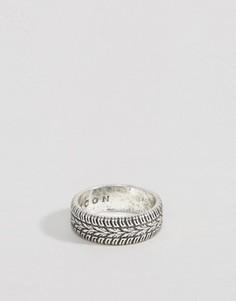 Серебристое кольцо с гравировкой Icon Brand - Серебряный