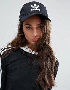 Черная кепка с логотипом adidas Originals - Черный