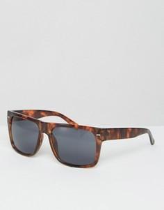 Черепаховые солнцезащитные очки с плоским верхом Jeepers Peepers - Коричневый