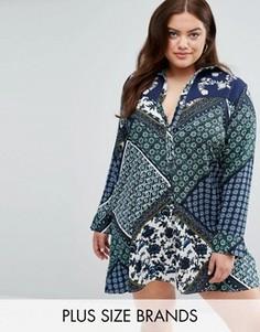 Платье-рубашка с принтом Boohoo Plus - Мульти