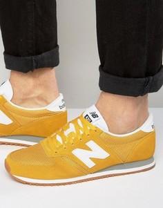 Желтые кроссовки для бега в стиле 70-х New Balance 420 U420YWG - Желтый