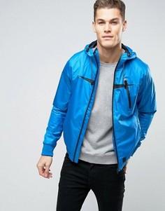Куртка-ветровка на молнии с капюшоном Blend - Синий