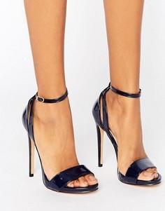 Темно-синие босоножки на каблуке Lost Ink Raula - Темно-синий