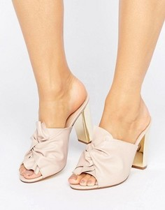 Office Spice Knot Heeled Mules - Розовый