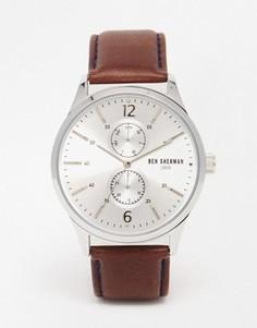 Часы с коричневым кожаным ремешком Ben Sherman Spitalfields - Коричневый