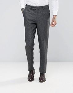 Твидовые брюки узкого кроя ASOS WEDDING - Серый