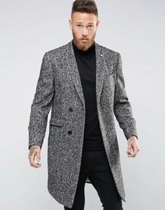 Пальто со скрытой планкой Noose & Monkey - Серый