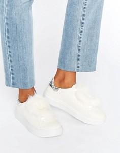 Кроссовки с меховой отделкой Blink - Белый