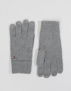 Серые перчатки из смесового кашемира Tommy Hilfiger - Серый