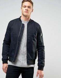 Темно-синяя куртка‑пилот New Look MA1 - Темно-синий