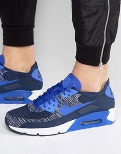 Синие кроссовки Nike Air Max 90 Ultra 2.0 Flyknit 875943-400 - Синий